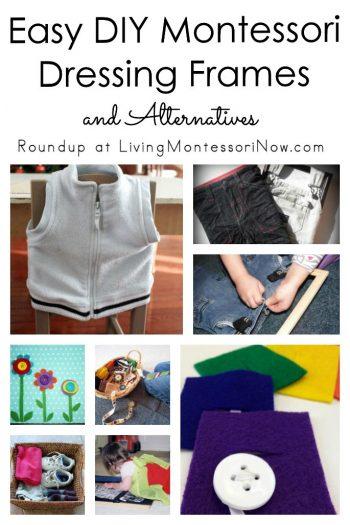 Easy DIY Montessori Dressing Frames and Alternatives