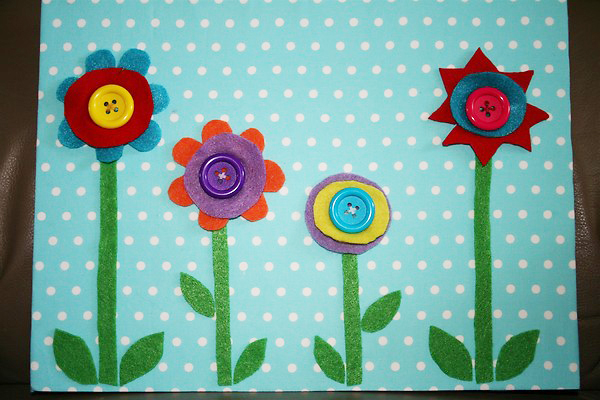 Flower Button Board (Photo from Chasing Cheerios)