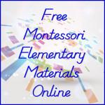 Free Montessori Elementary Materials Online