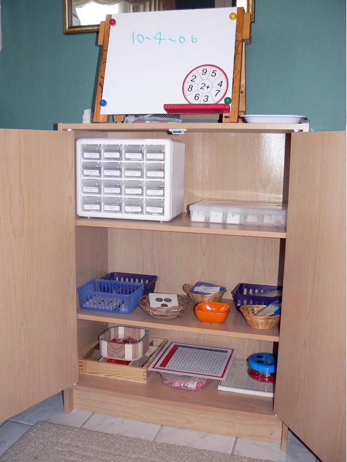 Montessori Elementary Cabinet (Photo from Montessori for Everyone)