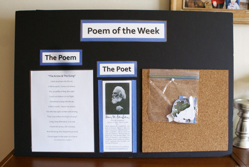 Poem of the Week (Photo from Our Montessori Home)