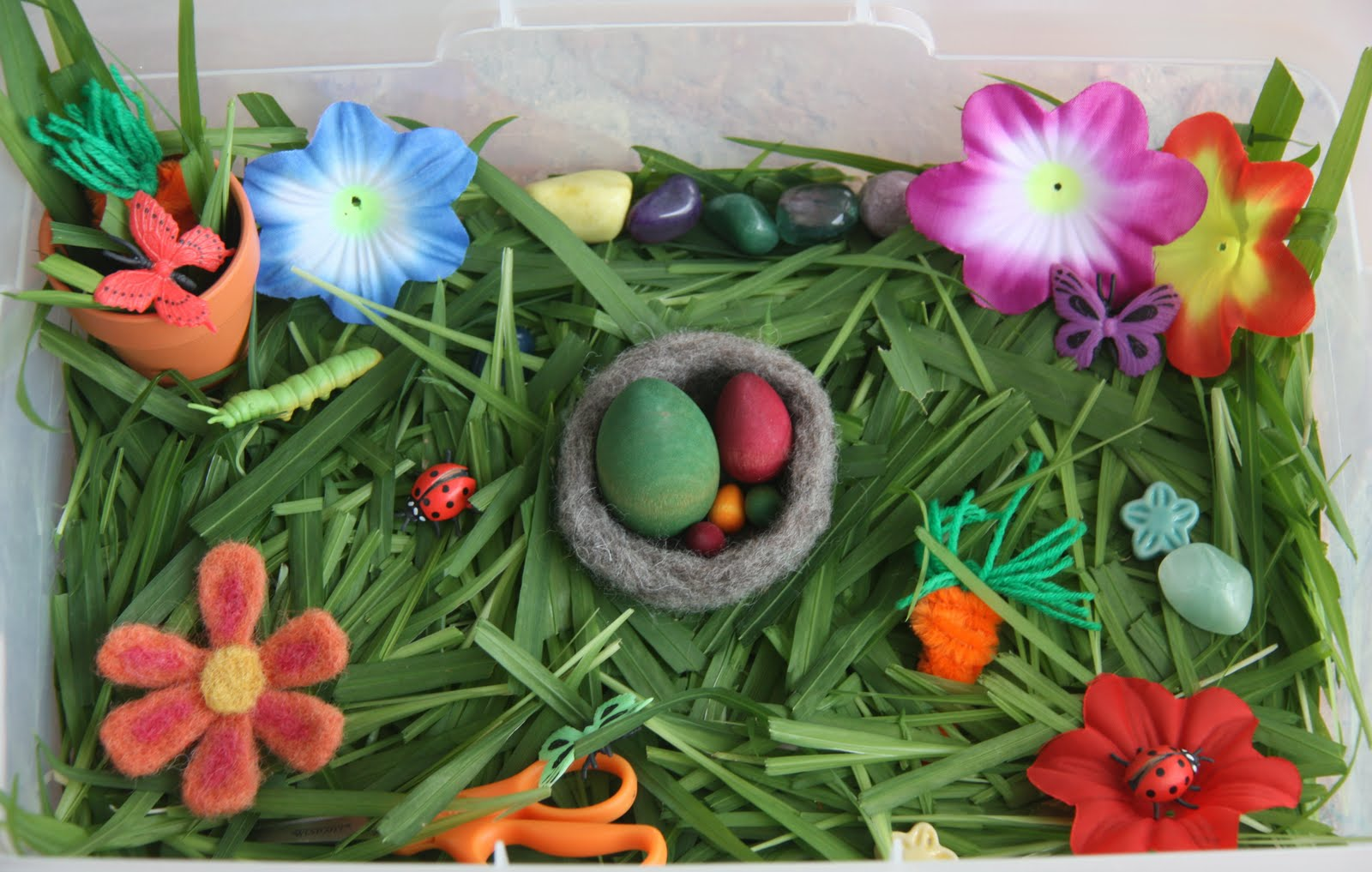 Spring Sensory Tub (Photo from Counting Coconuts)