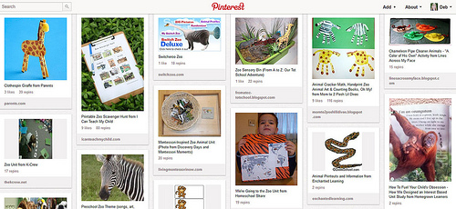 Pinterest - Zoo Animal Unit Study