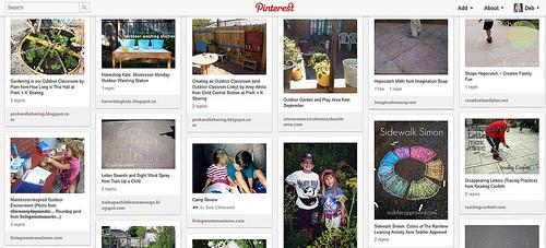 Outdoor Classroom Pinterest Board