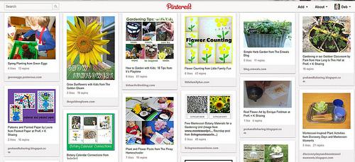 Botany/Gardening Unit Study Pinterest Board