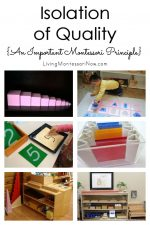 Isolation of Quality {An Important Montessori Principle