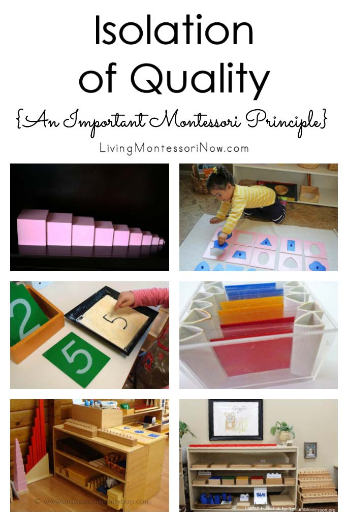 Isolation of Quality {An Important Montessori Principle