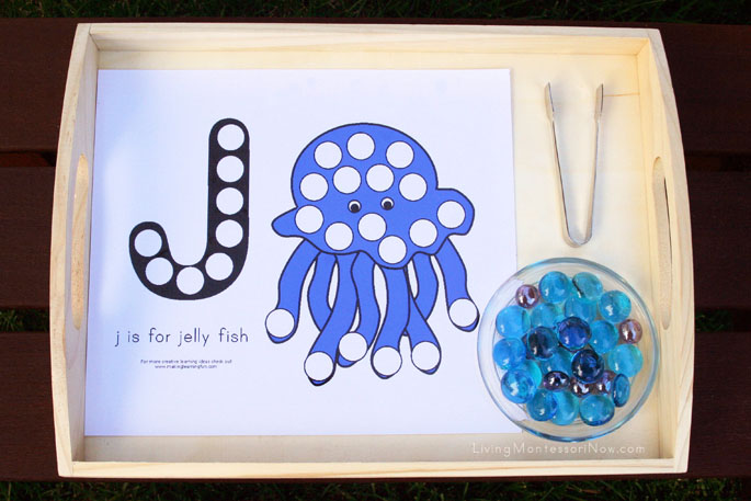 J is for Jellyfish Beginning Sounds Activity