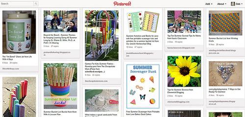 Summer Fun Pinterest Board