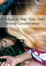 Montessori Monday – Help Your Child Develop Concentration