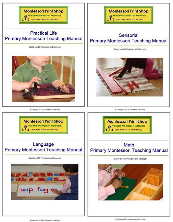 Montessori Print Shop Primary Montessori Teaching Manuals