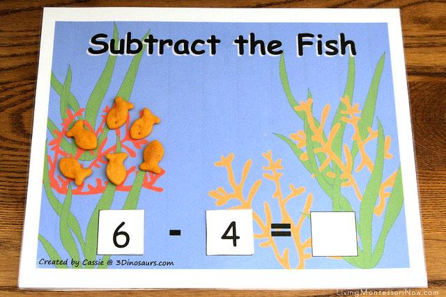 Subtract the Fish Activity Using Goldfish Crackers