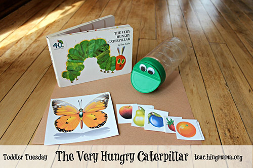 The Very Hungry Caterpillar Toddler Activity and Free Printable from Teaching Mama