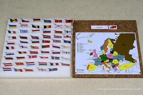 Europe Pin Map
