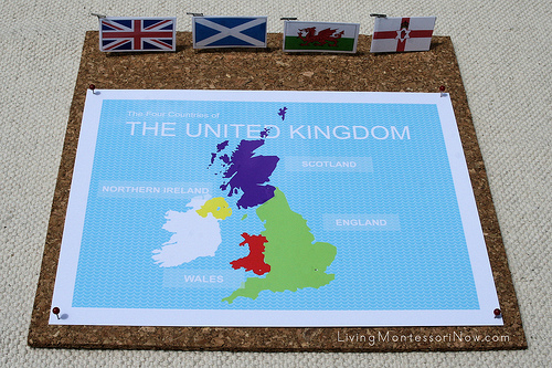 United Kingdom Pin Map