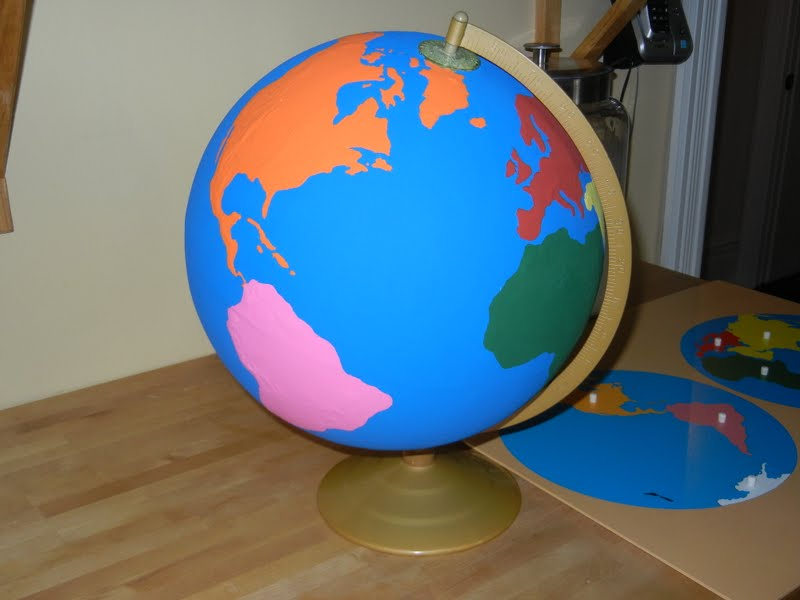 Continents Globe (Photo from Making Montessori Ours)