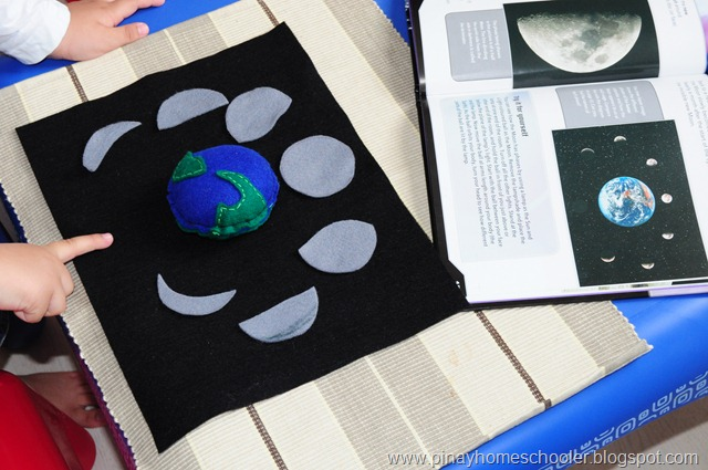 Phases of the Moon Activity (Photo from The Pinay Homeschooler)