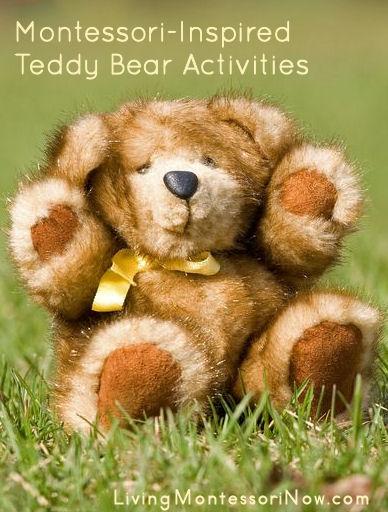Montessori Monday – Montessori-Inspired Teddy Bear Activities