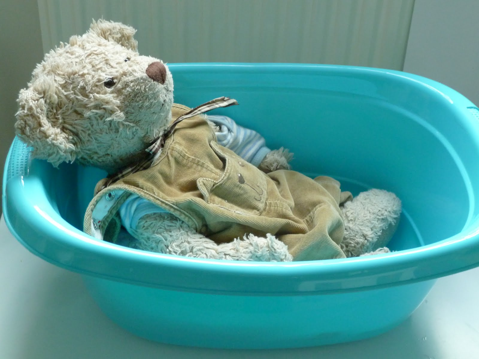 Bathing Baby Teddy-Bear (Photo from Family FECS)