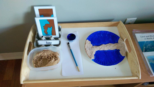 Salt Dough Land and Water Forms (Photo from Read About Reading)