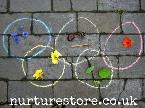 Olympic Ring Treasure Hunt (Photo from NurtureStore)