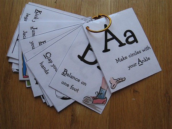 Alphabet Movement Cards (Photo from Chasing Cheerios)