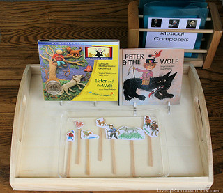 Montessori-Inspired Peter and the Wolf Tray