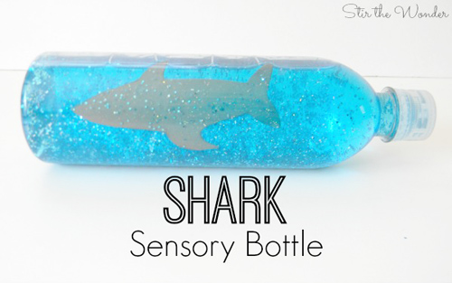 Shark Sensory Bottle (Photo from Stir the Wonder)