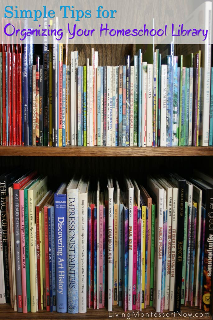 Simple Tips for Organizing Your Homeschool Library