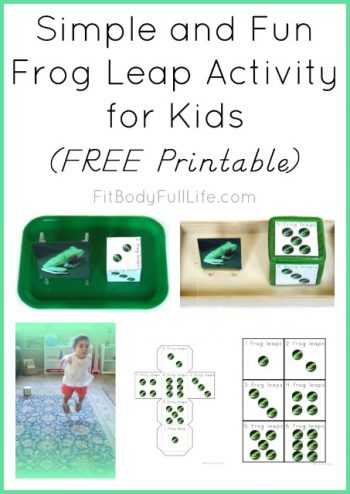 Simple and Fun Frog Leap Activity for Kids (Instant Download) from Fit Body Full Life