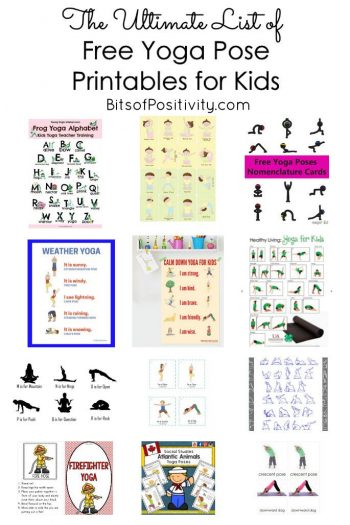 Influential image with regard to kids yoga poses printable