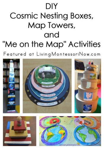 "DIY Cosmic Nesting Boxes, Map Towers, and ""Me on the Map"" Activities"