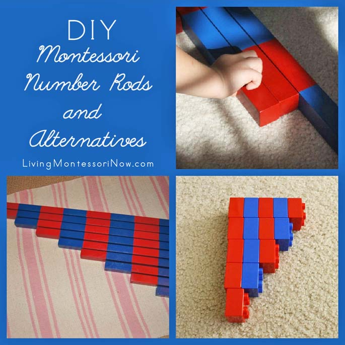 DIY Montessori Number Rods and Alternatives