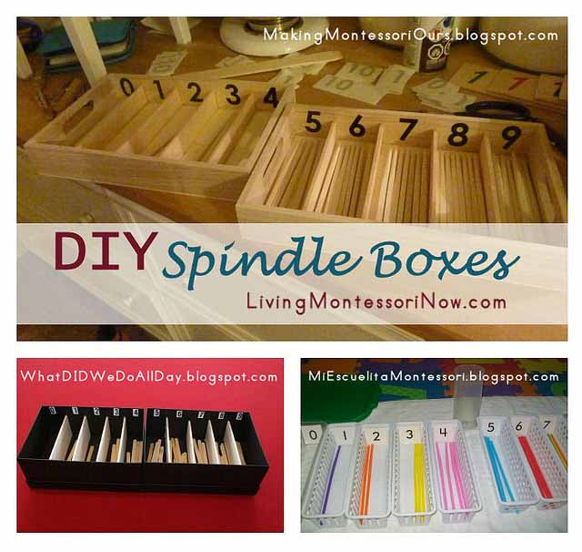 Montessori Monday – DIY Spindle Boxes