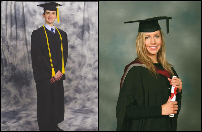 Will's and Christina's University Graduation Photos, 2009