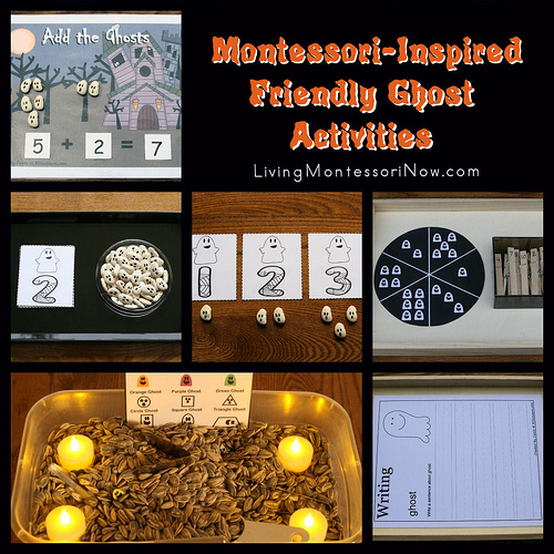 Montessori Monday – Montessori-Inspired Friendly Ghost Activities