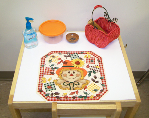 Playdough Table (Photo from My Montessori Journey)