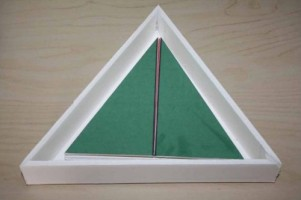 DIY Constructive Triangles (Photo from Montessori MOMents)
