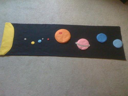 Felt Space Mat (Photo from Homeschool Escapade)