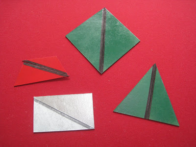 DIY Constructive Triangles (Photo from What DID We Do All Day?)