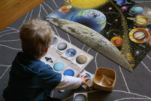 Solar System Activities (Photo from Our Montessori Home)