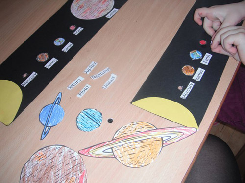 Solar System Work (Photo from My Montessori Preschool)