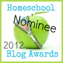 2012 Homeschool Blog Awards Nominee