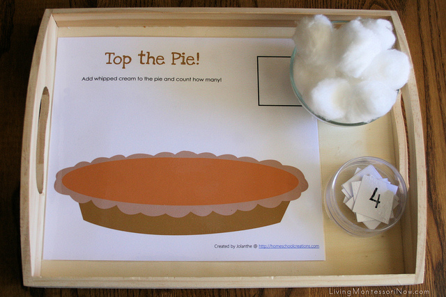 Top the Pie Activity Tray