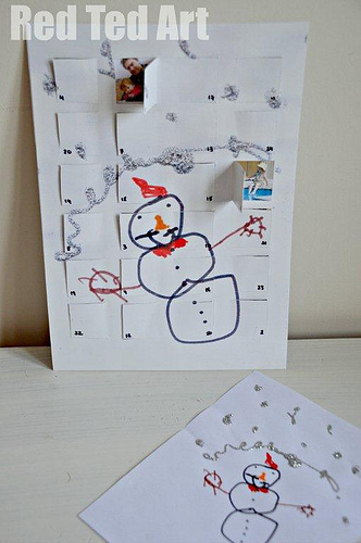 Advent Calendar from Kids' Art (Photo from Red Ted Art)