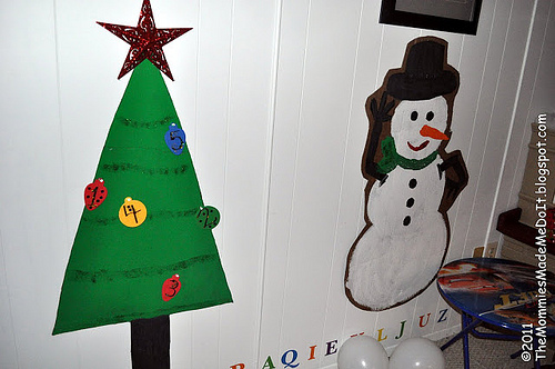 Cardboard Christmas Countdown (Photo from Go Kid Yourself)
