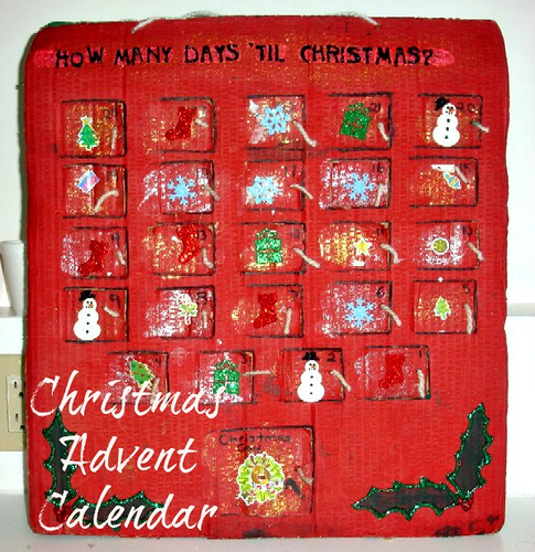 Christmas Advent Calendar (Photo from 2 Big, 2 Little)