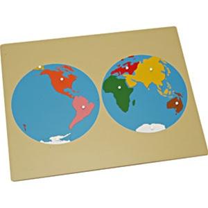 Alison's Montessori Premium Quality Puzzle Map of the World