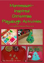 Montessori Monday – Montessori-Inspired Christmas Playdough Activities