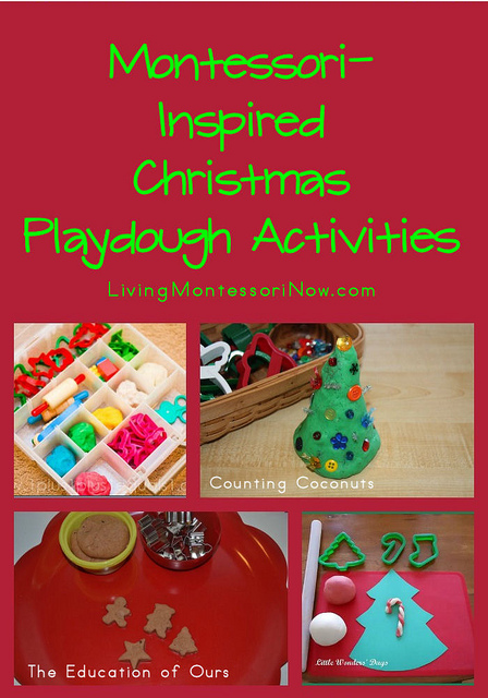 Montessori-Inspired Christmas Playdough Activities